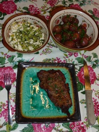steak - lima beans - potatoes