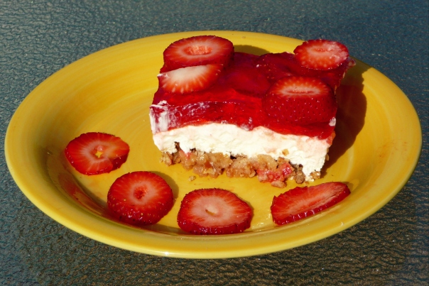 Strawberry Jello Pretzel Pie