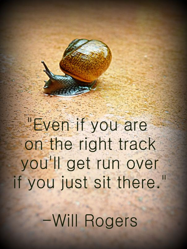 take action - snail quote