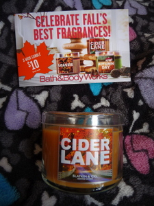 bath & body works candle cider lane